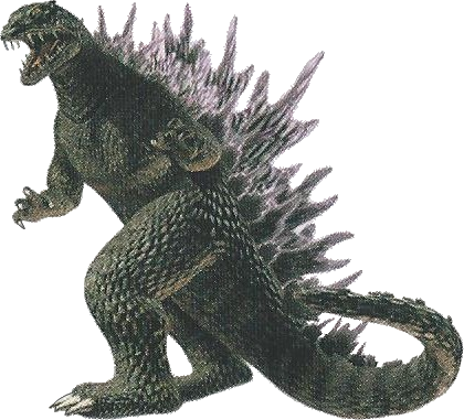 Godzilla face png. Save the earth by