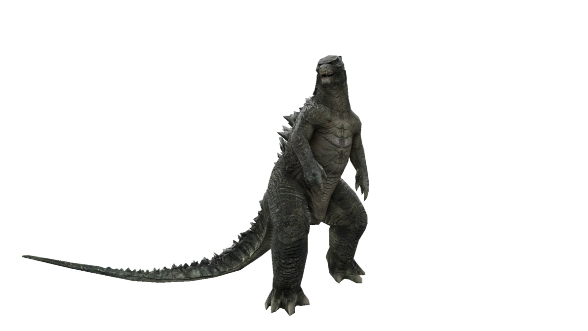 Godzilla png transparent. Looking stance by digitalx