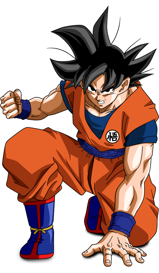 Gogeta transparent base form. Goku age physical height
