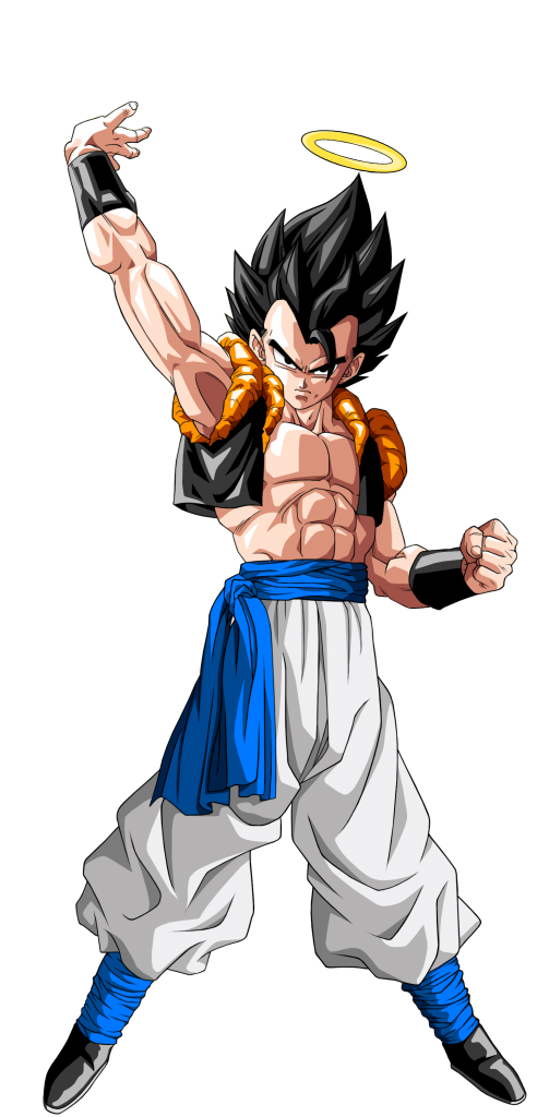 Gogeta transparent halo. Vs gotenks battles comic