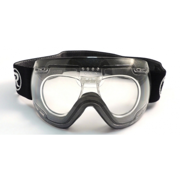 Raleri rugby prescription goggles. Goggle clip graphic transparent stock
