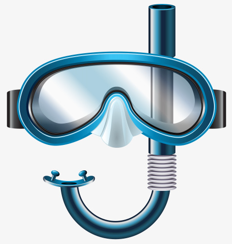 Goggles clipart diving goggles. Free pull material blue