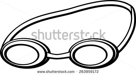 Goggles clipart pool goggles. Swimming stock vectors vector