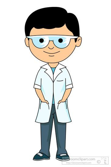 Goggles clipart science lab. Boy student wearing a