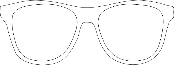 Goggles clipart spectacles frame. Printable glasses template black