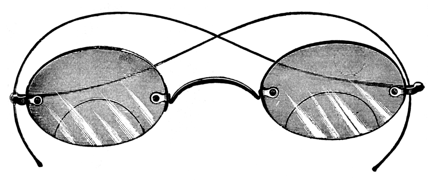 Goggles clipart spectacles frame. Vintage clip art old