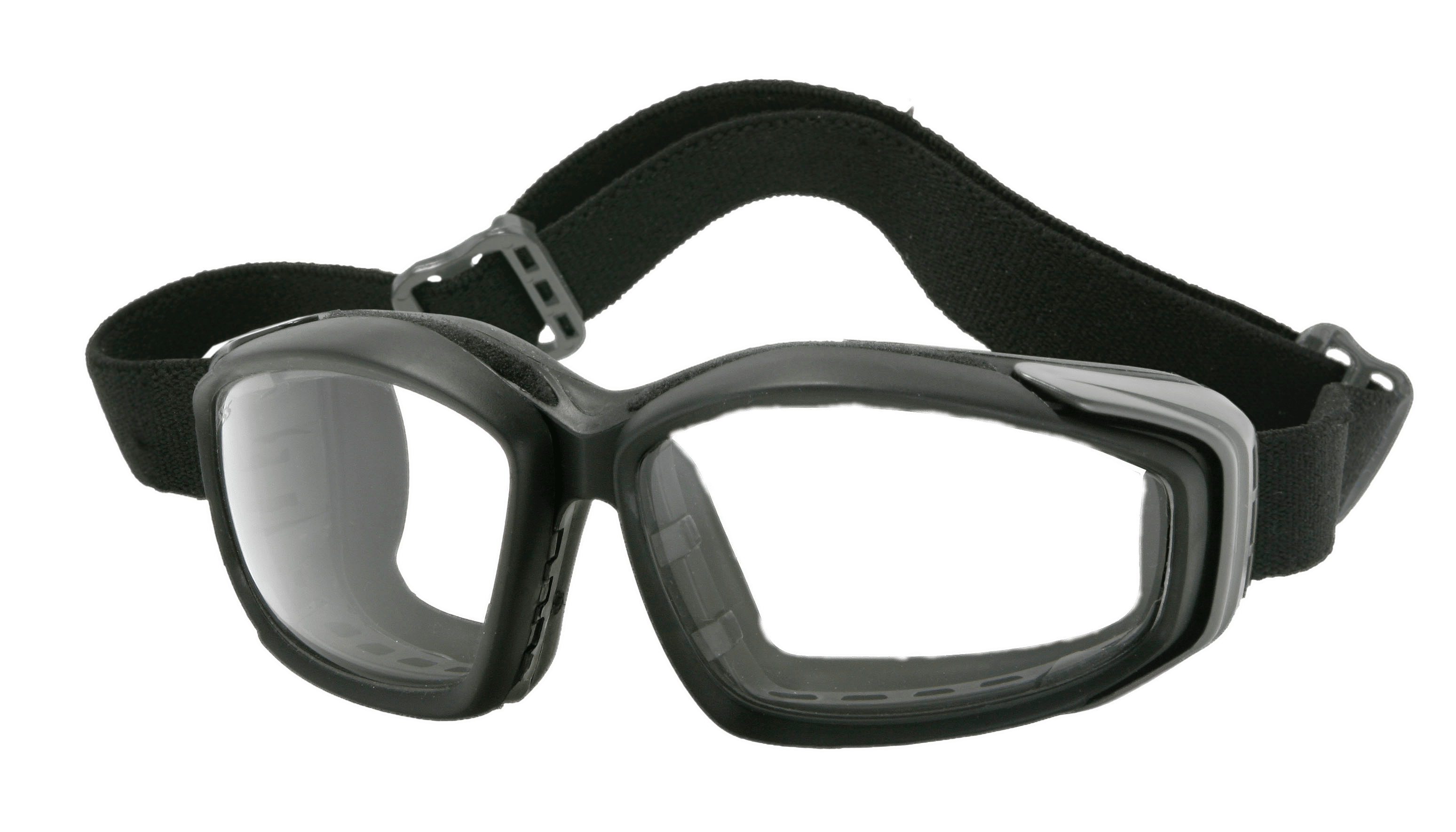 goggles transparent black and white