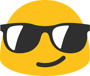 Goggles vector spectacles. Smile with glasses emoji