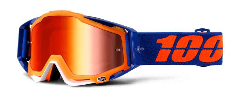 Goggles transparent 100%. Motocross attack yellow