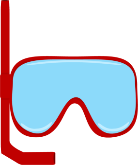 Goggles transparent water. Clipart pencil and in
