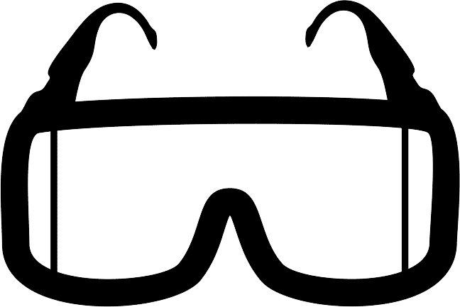 Goggles vector black and white. Clip spectacles frame