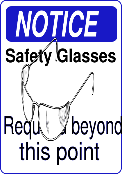 Goggles vector clip art. Safety clipart group with
