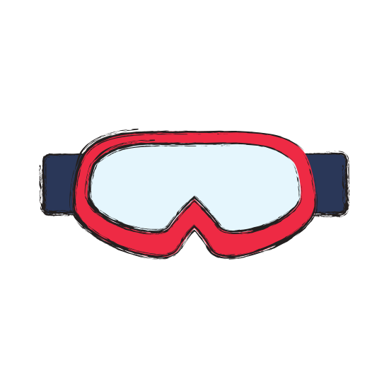 Goggles vector snowboard. Sport equipment photos by