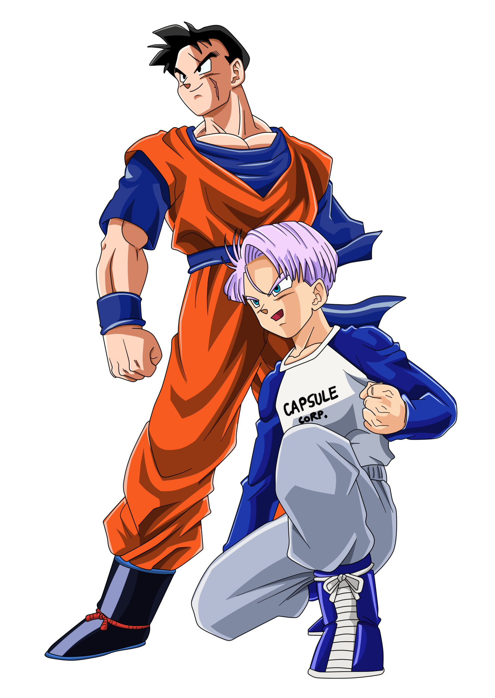 Gohan future png. And trunks color by