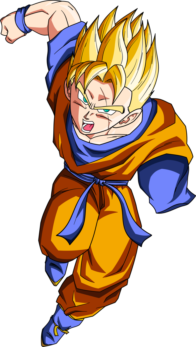 Gohan future png. One arm rushing by