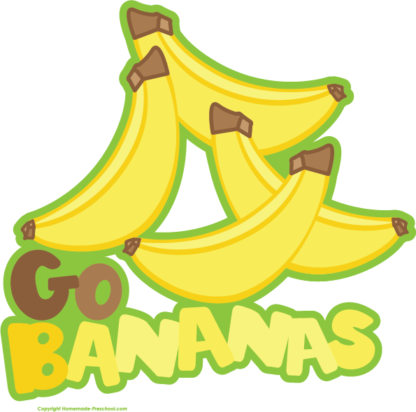 Going bananas png. Free fruit clipart click