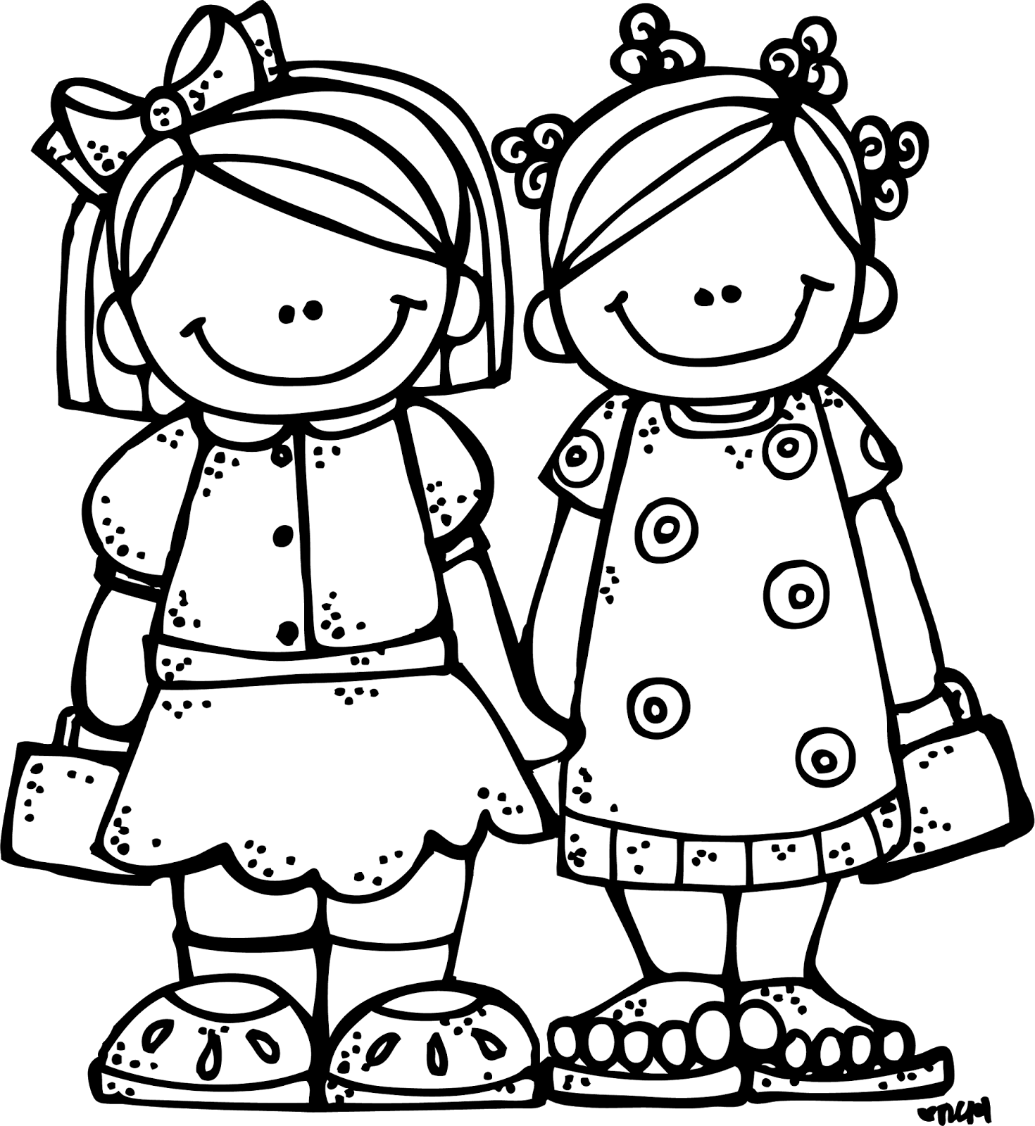 Siblings png black and. Drawing friendship best friends together picture free