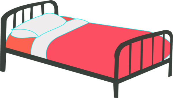 Going to clipart bed. Free cartoon cliparts download