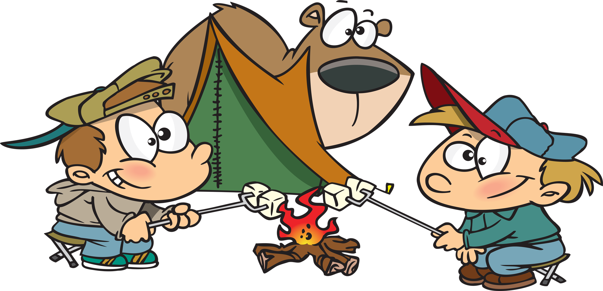 Cartoon clipart camping. Free cartoons download clip