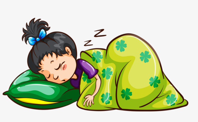 Sleeping clipart child. Go to bed cartoon