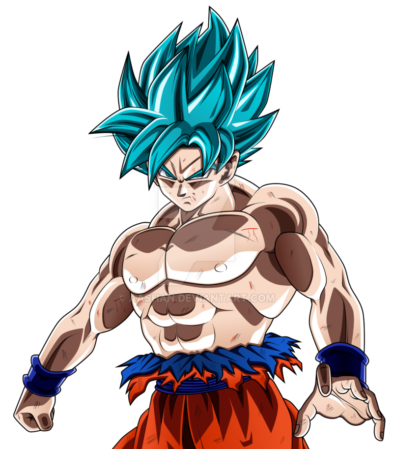 Goku blue png. Image super saiyan full