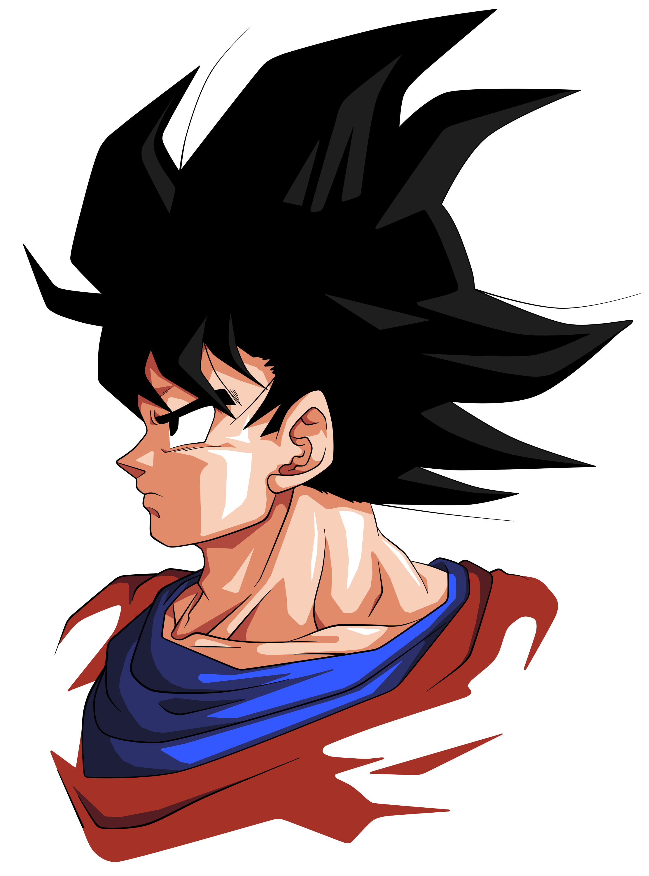 Goku face png. Images in collection page