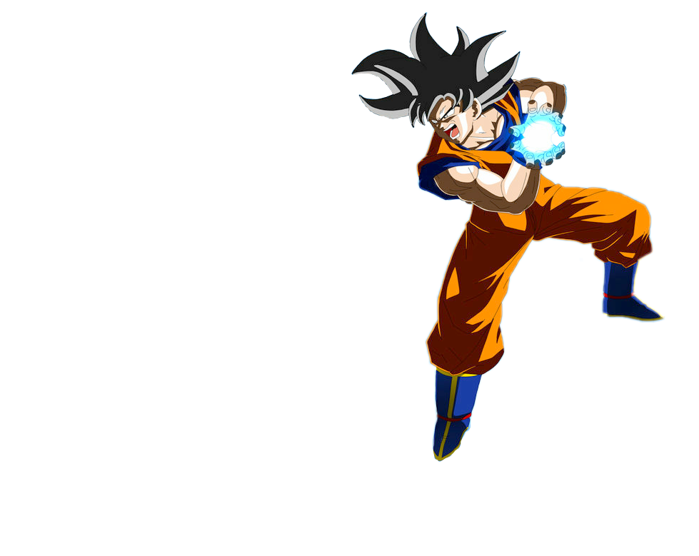 Kamehameha transparent goku. Dragonballz sticker