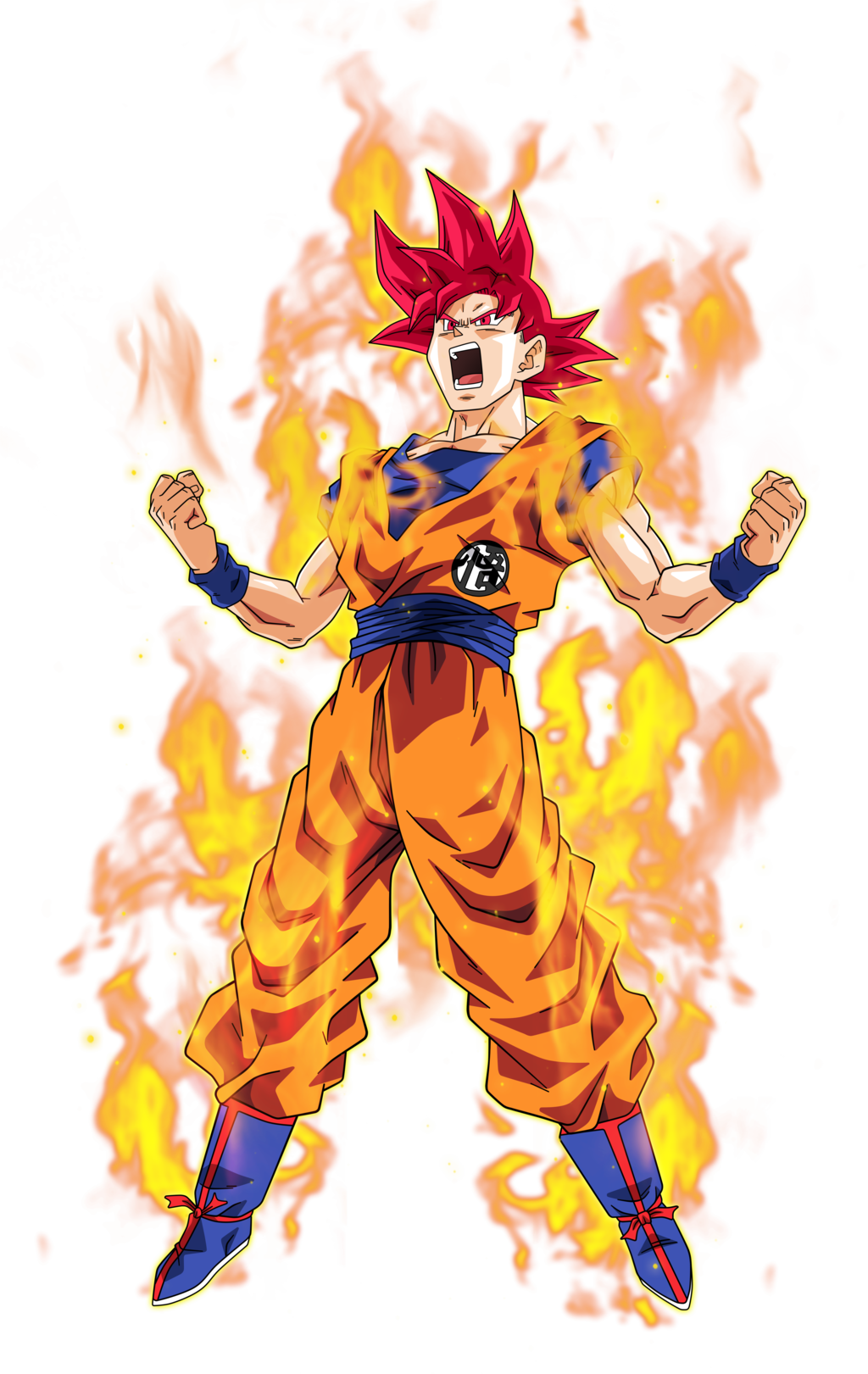 Goku png super saiyan god. By bardocksonic on deviantart