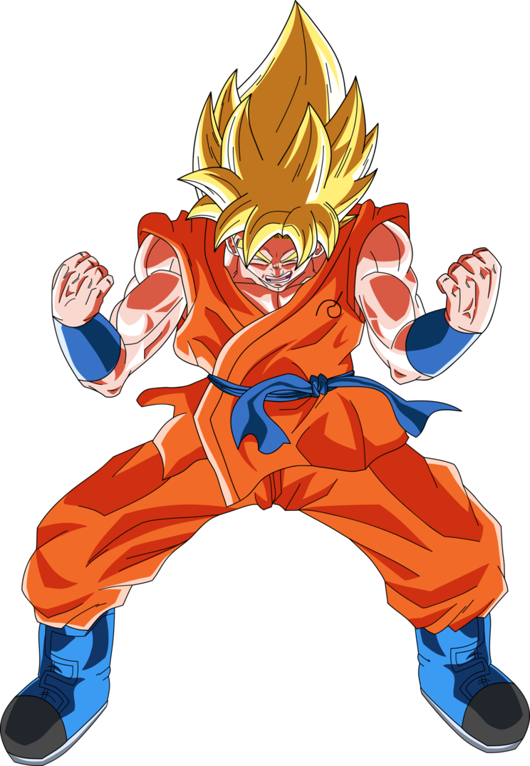 Super saiyan power up png. Goku ssj by dragonballaffinity