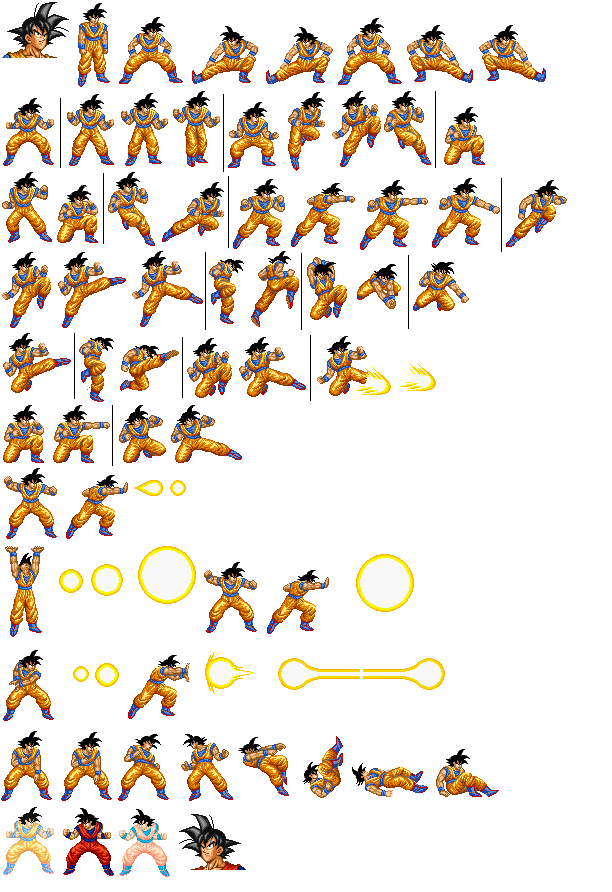 Transparent sprite goku. Sprites unlimited pixelate your