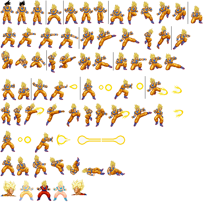Goku sprite sheet png. Sprites unlimited pixelate your