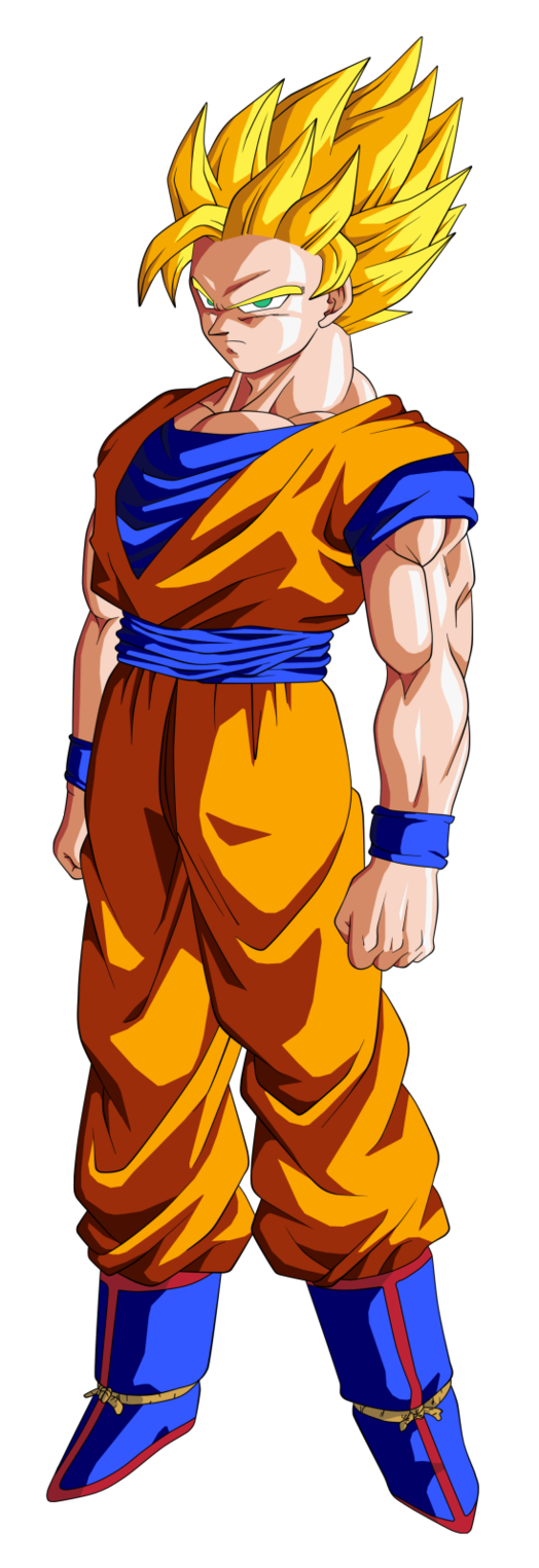 Goku ssj 2 png. By bardocksonic on deviantart