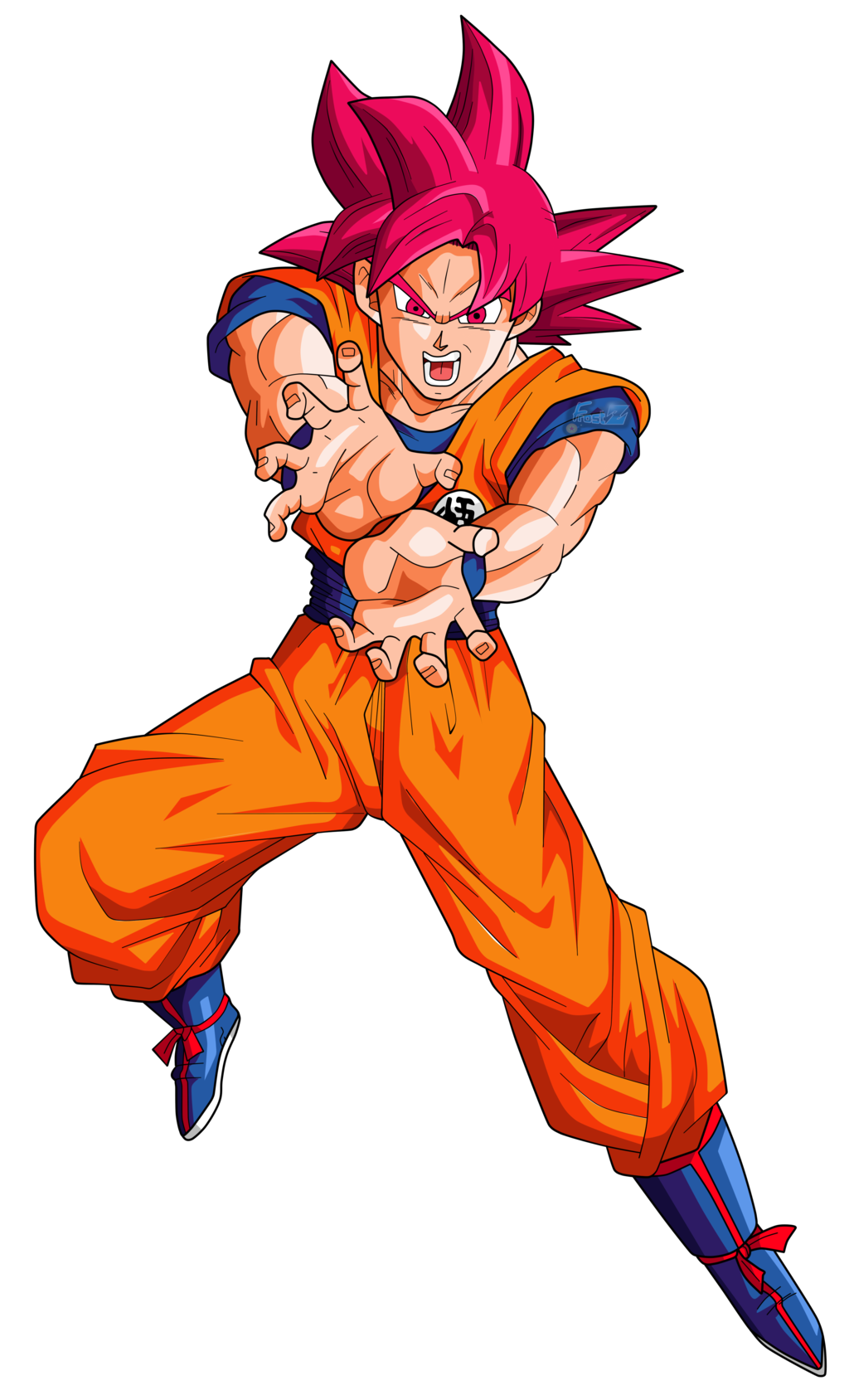 Goku super saiyan god png. Image by frost z