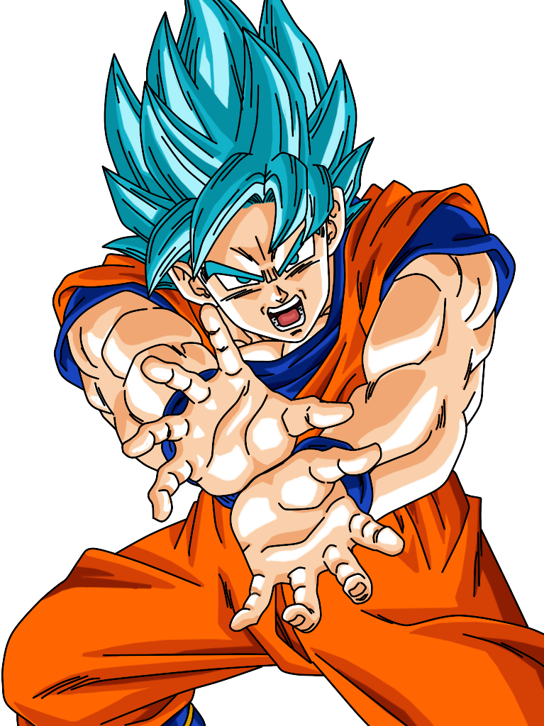 Goku png super saiyan god. Blue render by yeyetv
