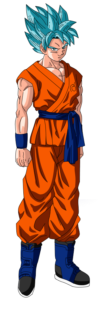 Goku ssj god blue png. Image super saiyan render