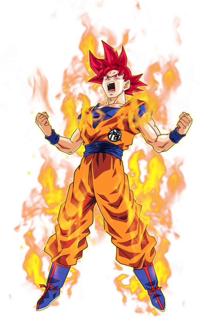 Goku super saiyan god 2 png. Image by bardocksonic d