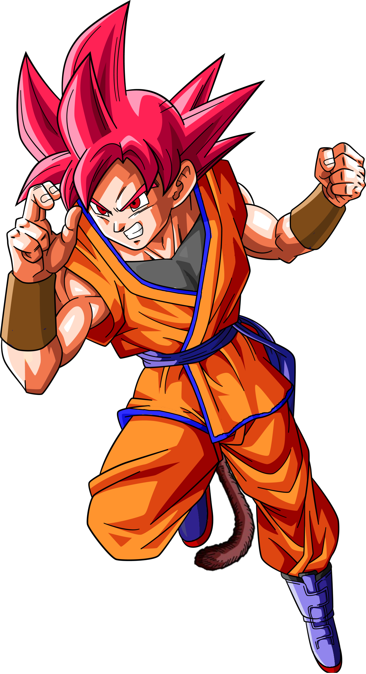 Goku super saiyan god 2 png. Image jr dragonball dragon