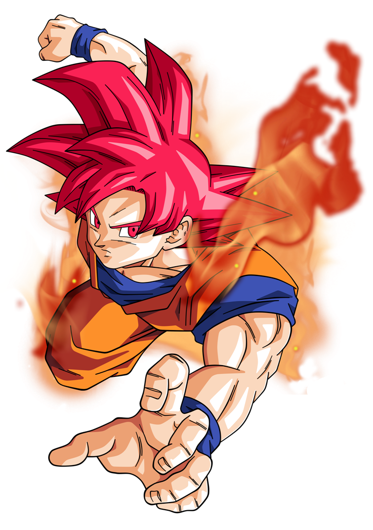 Goku super saiyan god png. Image by bardocksonic d