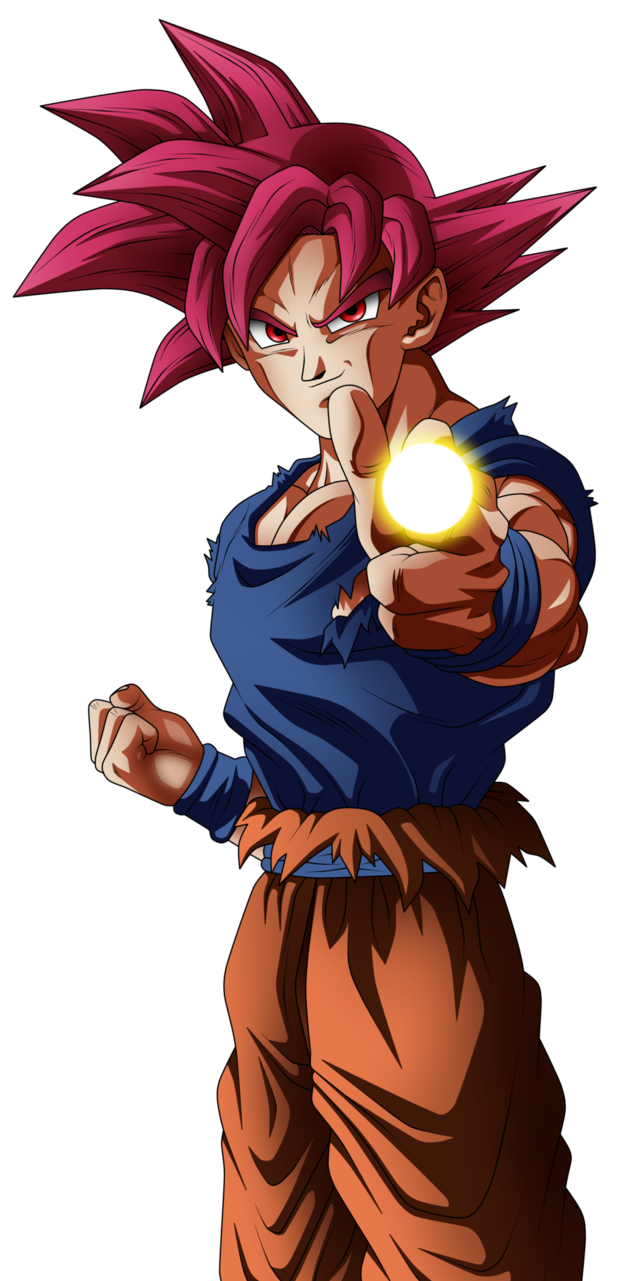 Goku super saiyan god png. Image by angelarts dbsslu