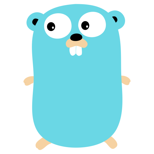Golang vector icon. Prog png and for