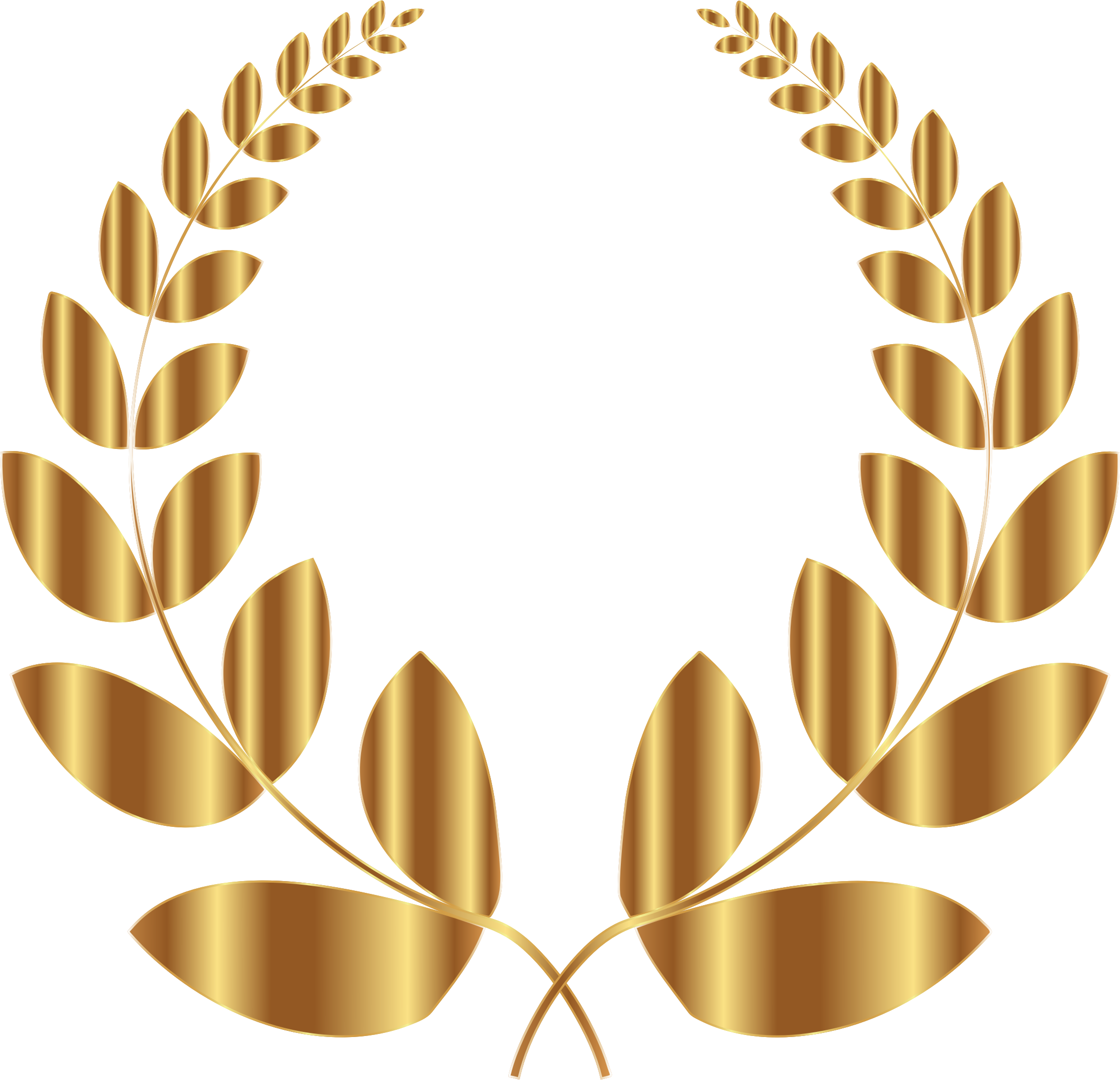 Gold 5 png. Laurel wreath no background