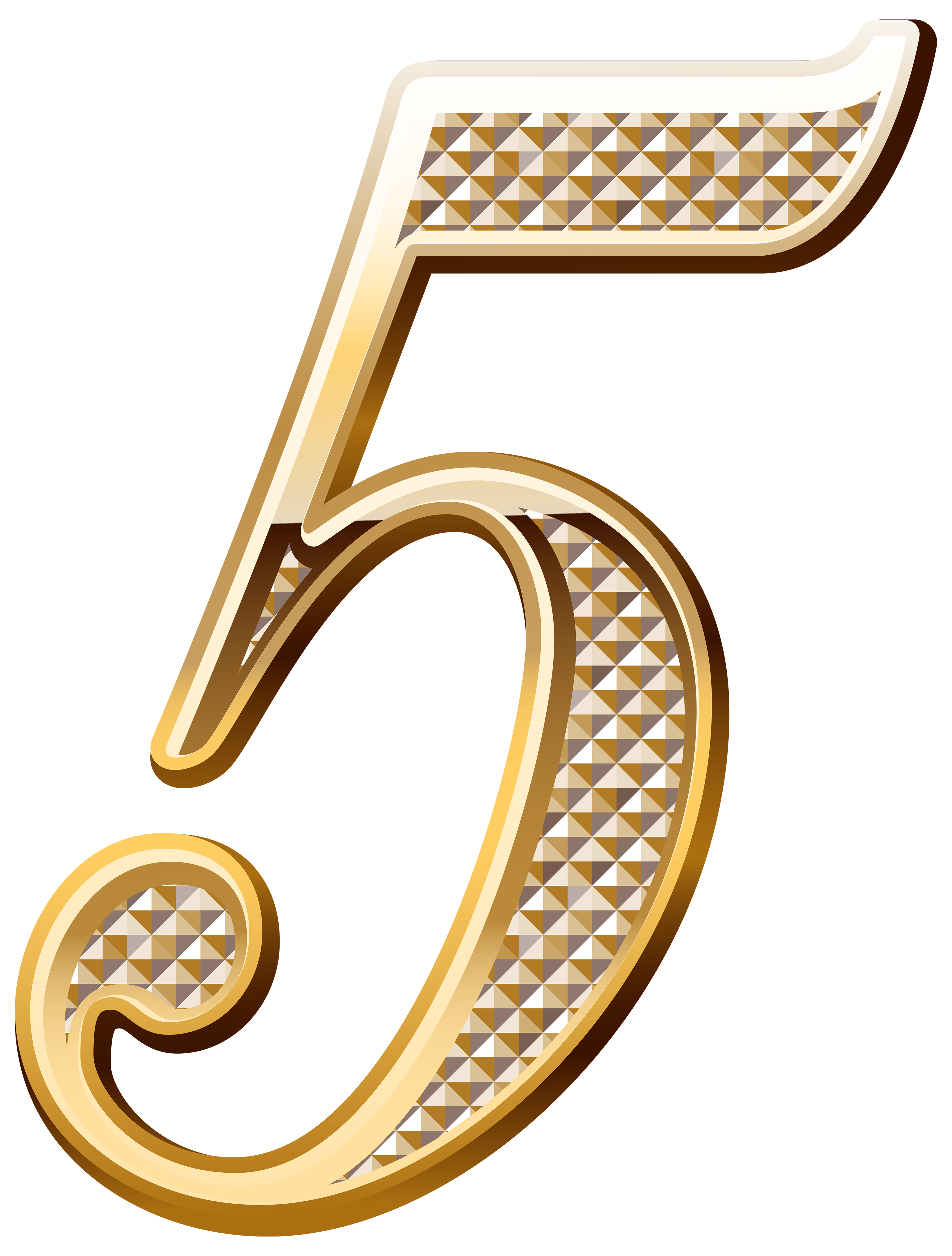 Gold 5 png. Number clip art transprent