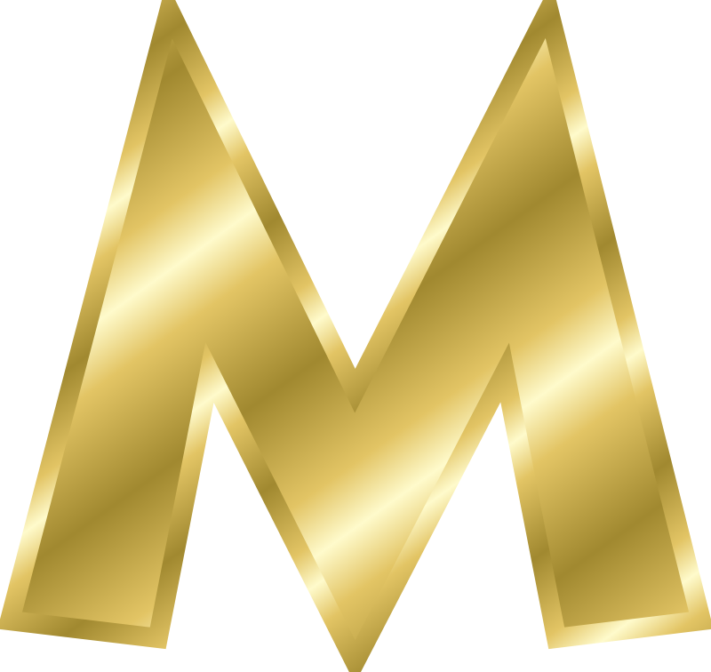 Png gold letters. Free clip art effect