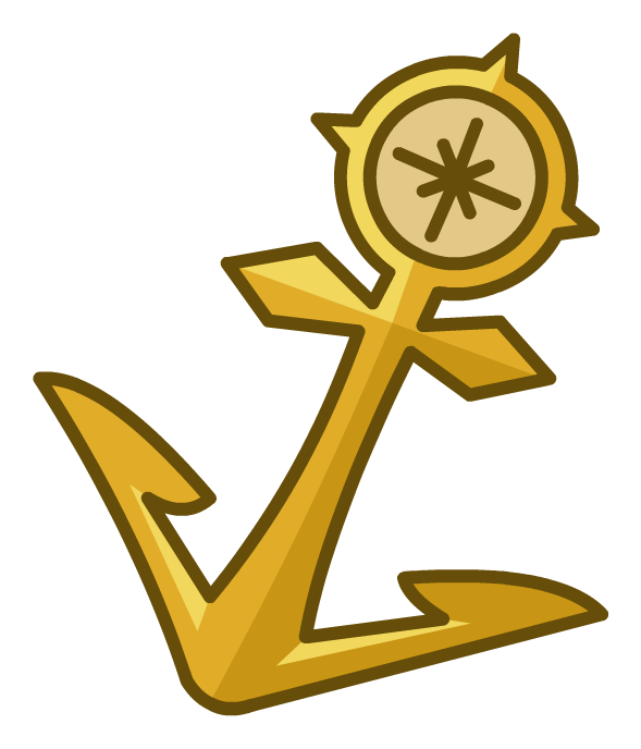 Gold anchor png. Image pin club penguin