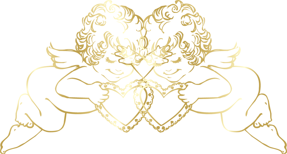 Angels png clipart for photoshop. Transparent gold with hearts