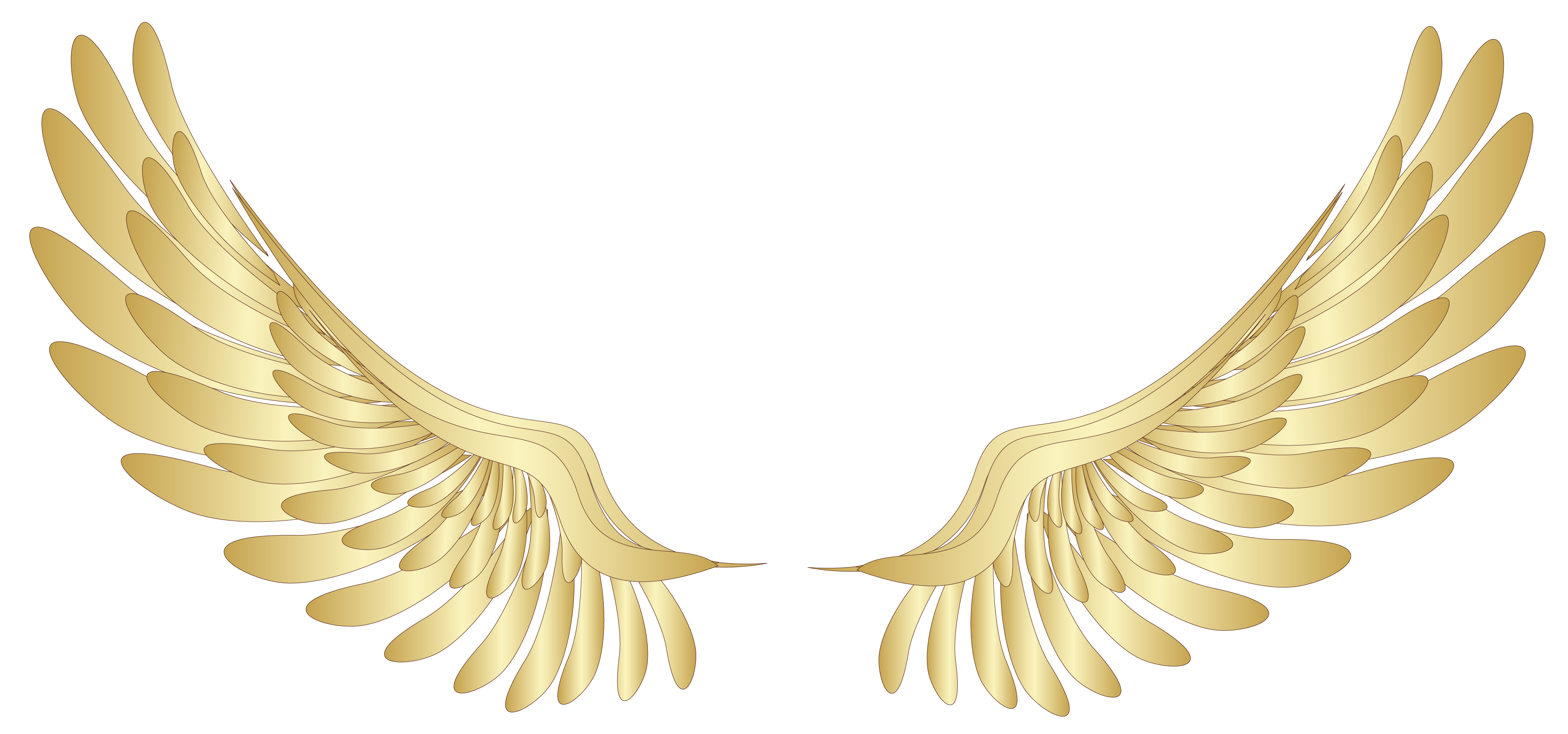 Gold angel wings png. Golden decor clipart picture