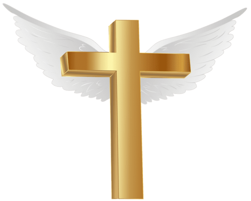 Gold angel wings png. Download cross with images