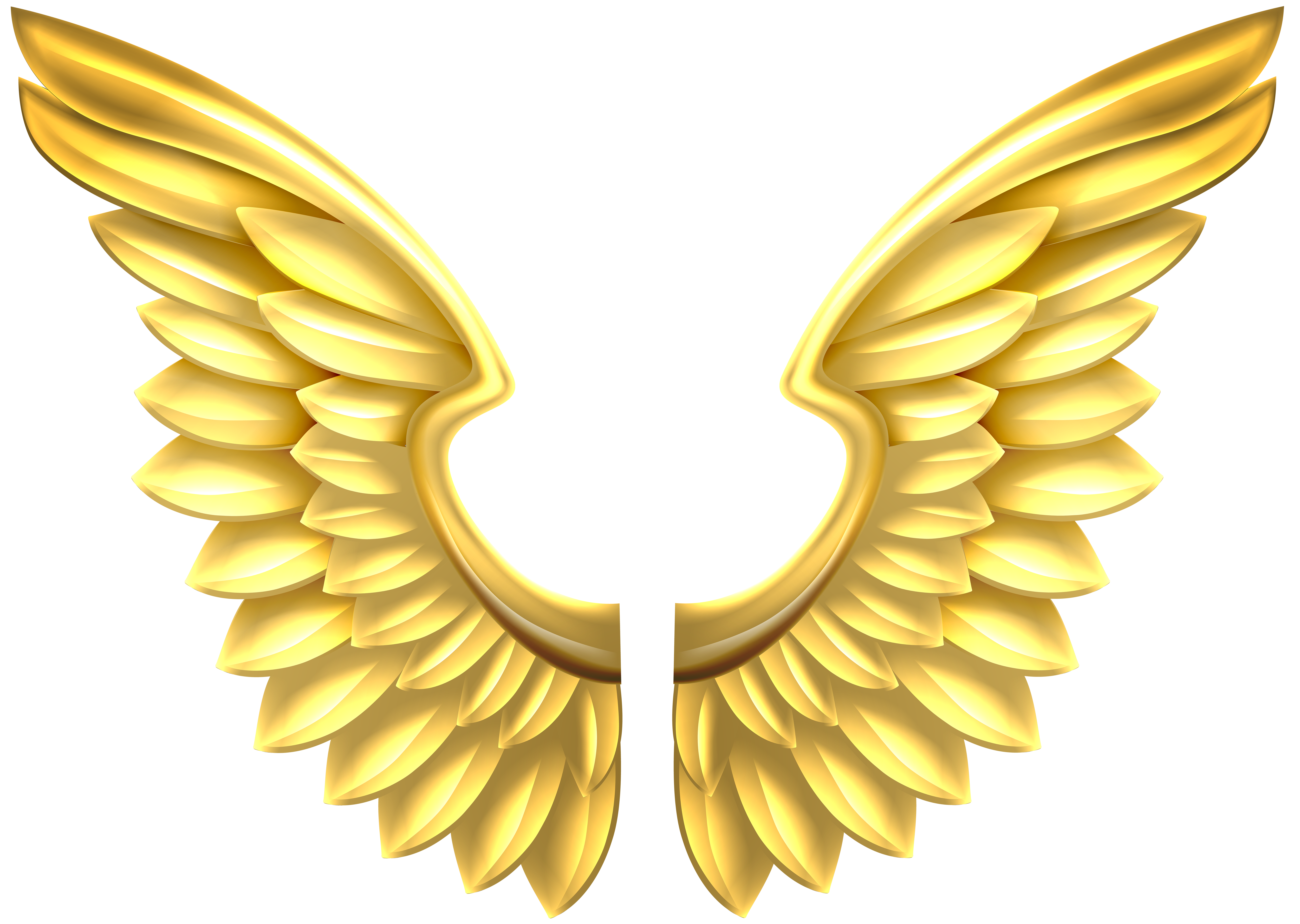 Gold angel wings png. Transparent clip art image