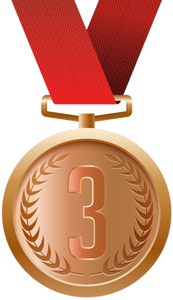 Gold clipart gold silver. Bronze medal png clip