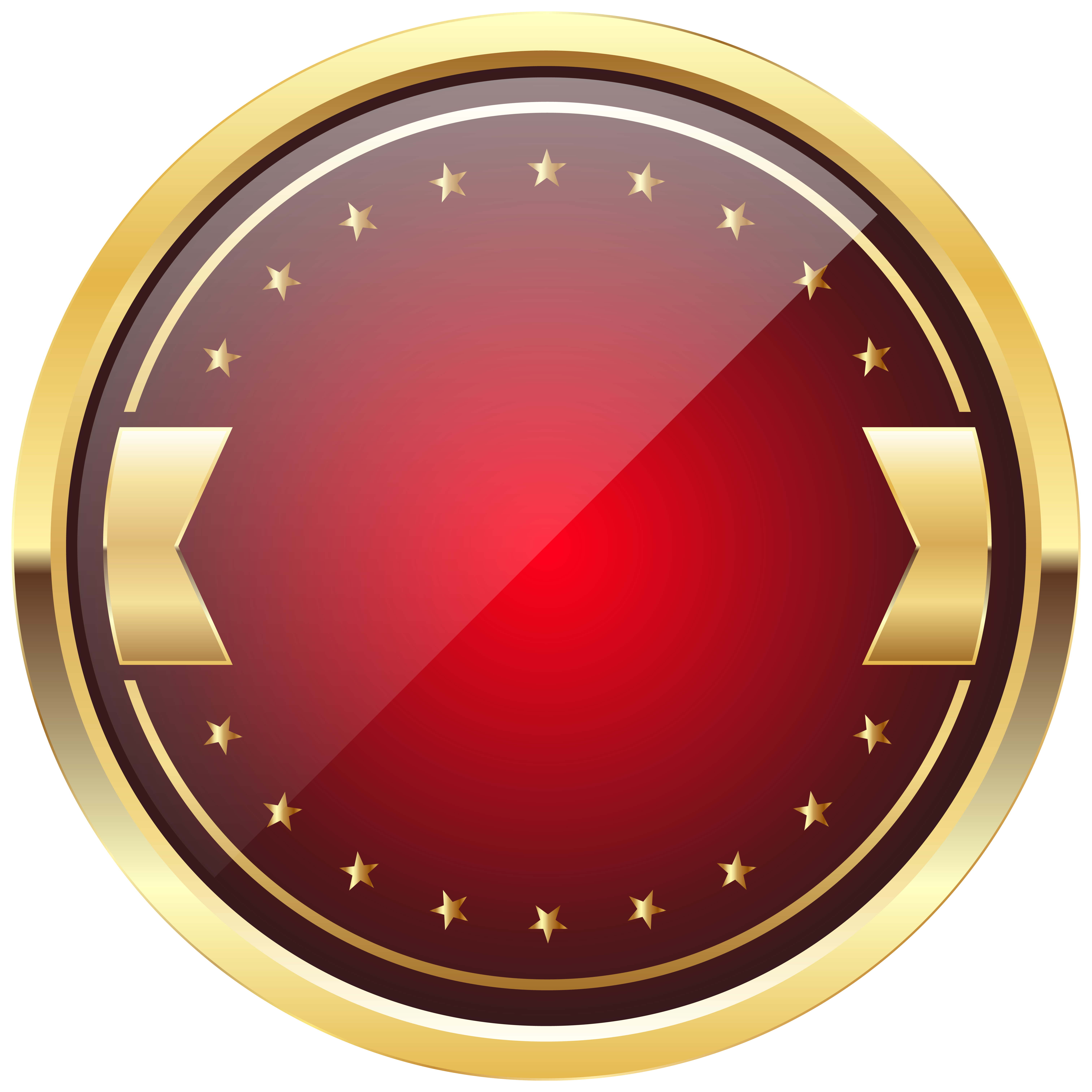 Gold badge png. Red and template clip